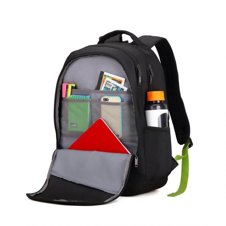 American tourister Black Backpack open