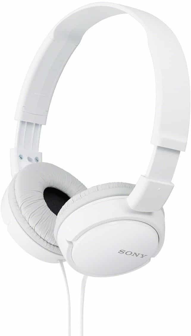 sony Headphones white in colour