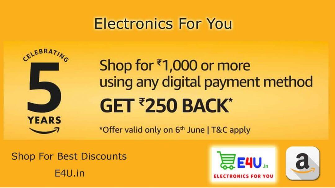 Electronics For You amazon 5 Yearas celebrating