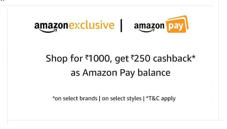 Amazon 250 cashback