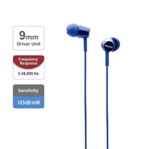 Sony MDR-EX150 in-Ear Monitor Headphones (Dark Blue)