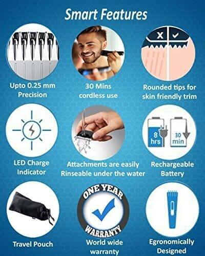 Best Trimmer Below 500 Nova Electric Rechargeable Beard Trimmer