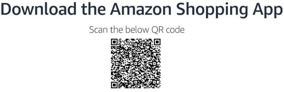 Amazon Shopping app QR Code Scan