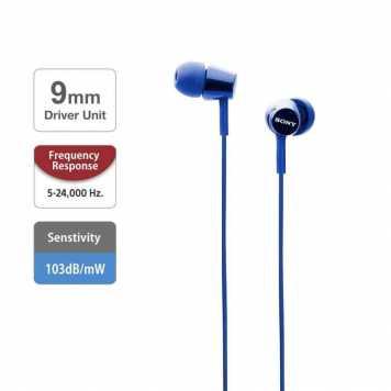 Sony MDR-EX150 in-Ear Monitor Headphones (Dark Blue)